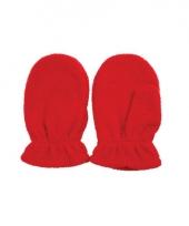 Rode kinderhandschoenen