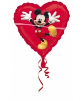 Rode mickey mouse folie ballon