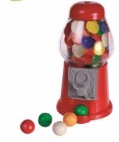 Rode mini kauwgomballen automaat 13 cm