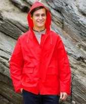 Rode pvc regenjassen voor volwassenen