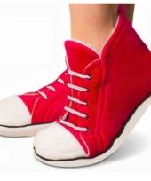 Rode sneaker pantoffels hoog voor heren