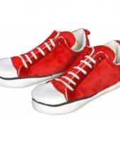 Rode sneaker pantoffels laag voor dames