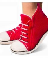 Rode sneaker slofjes hoog voor dames