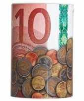 Rode spaarpot 10 euro 10 x 15 cm