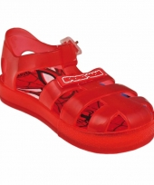 Rode spiderman zwembad sandalen