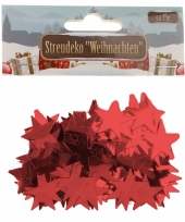 Rode sterretjes confetti 15 gram