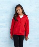 Rode sweatshirt met rits voor meiden
