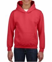Rode trui met capuchon voor jongens