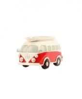 Rode volkswagen t1 bus spaarpot