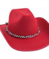 Rode western hoed