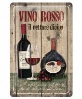 Rode wijn afbeelding muurdecoratie vino rosso 20 x 30 cm