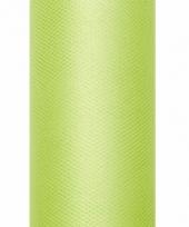 Rolletje tule stof lichtgroen 50 cm breed