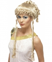 Romeinse godin pruik