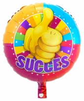 Ronde folie ballon succes wensen