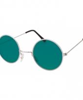 Ronde john lennon bril groen