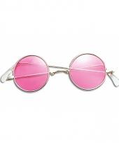 Ronde john lennon bril roze