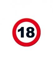 Ronde poster verkeersbord 18 jaar