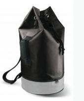 Ronde zwarte duffel tas van 62 cm