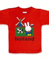 Rood baby t-shirt nijntje holland