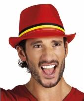 Rood belgisch supporters hoedje