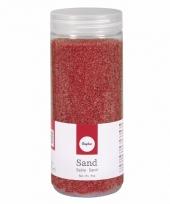 Rood decoratie zandkorrels fijn