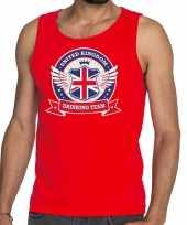 Rood engeland drinking team tanktop mouwloos shirt heren