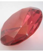 Rood gekleurde diamanten 10 cm per stuk