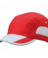 Rood grijze sportieve pet voor volwassenen