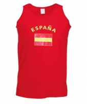 Rood heren shirtje met spaanse vlag 10041491