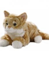 Rood katten knuffeltje 35 cm