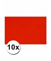 Rood knutsel karton a4 10 stuks