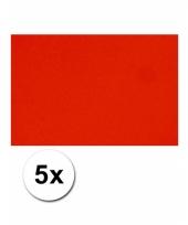 Rood knutsel karton a4 5 stuks