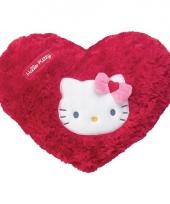 Rood kussentje van hello kitty