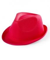 Rood maffia gangster hoedje voor kinderen