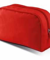 Rood make up opberg tasje 5 liter
