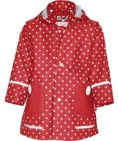 Rood met witte stip regenjas voor meisjes