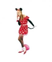 Rood muizen jurkje voor vrouwen