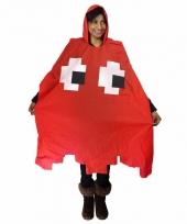 Rood pacman spookje regenponcho