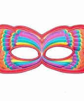 Rood regenboog oogmasker van een vlinder