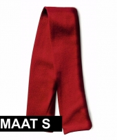 Rood shawltje voor knuffels maat s