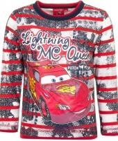 Rood shirt met mc queen van cars