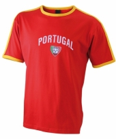 Rood shirtje portugal print