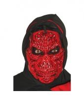 Rood skeletten masker voor halloween feest