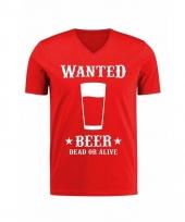Rood t-shirt met cowboy print voor heren