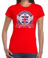 Rood united kingdom drinking team t-shirt dames
