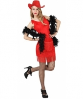Rood wilde westen jurkje voor dames