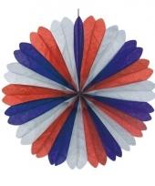 Rood wit blauw decoratie waaier