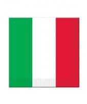 Rood wit groen servet 16 stuks