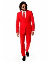 Rood zakenpak voor heren