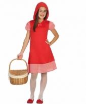 Roodkapje kinderjurkje voor meisjes